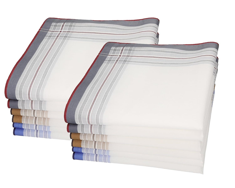 BETZ 12 fazzoletti da naso per uomo Lord 1 misura 43 x 43 cm 100% cotone Design 60