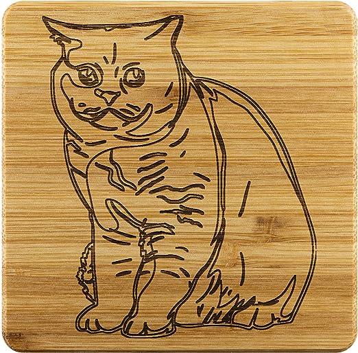 British Shorthair Cat Set Of 4 Coasters Coasters