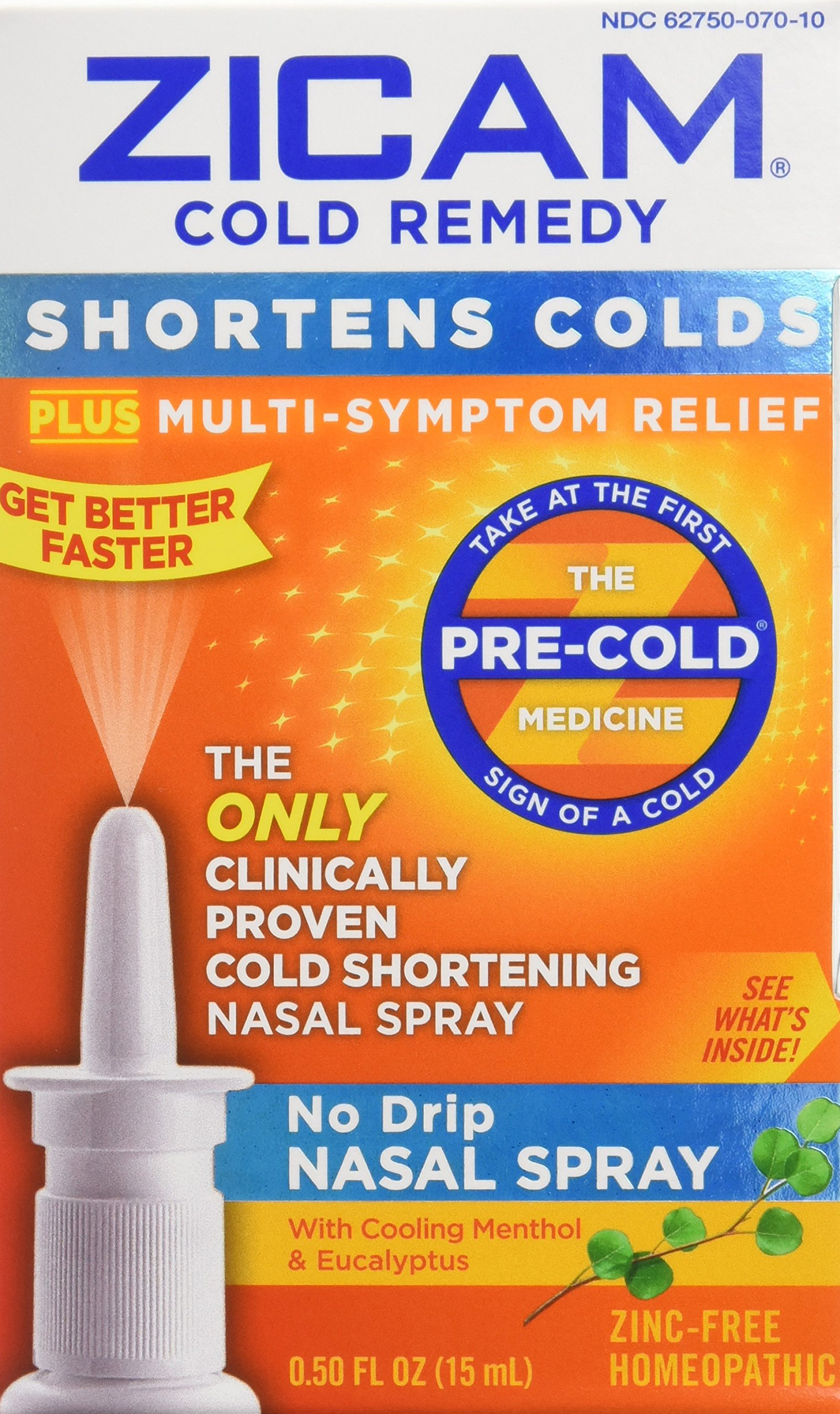 Zicam Cold Remedy No Drip Nasal Spray, 0.5 oz., Pack of 2