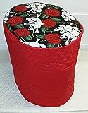 Skulls & Roses Food Processor Cover (Large, Red)