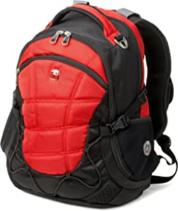 Swiss Gear SA9769 Red Laptop Backpack - Fits Most 15 Inch Laptops and Tablets