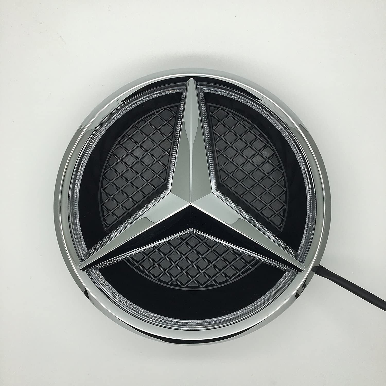 Cszlove Car Front Grilled Star Emblem Led Illuminated 2008 Cl550 Fuse Box Logo Center Badge Lamp Light For Mercedes Benz 2015 2017 Glc Gle Gls White