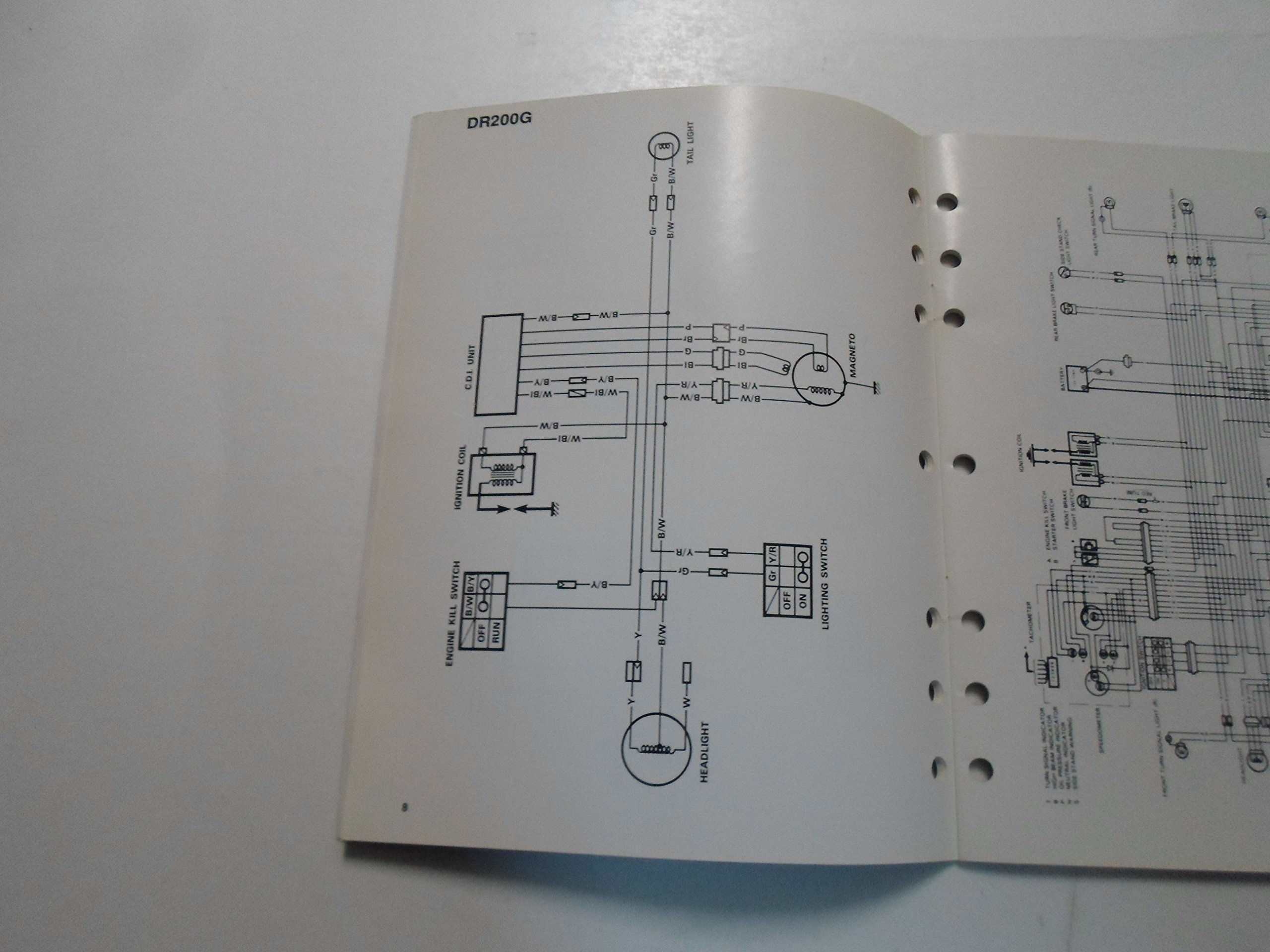 1986 Suzuki Motorcycle Atv G Models Wiring Diagrams Manual Minor Electrical Diagram Of 1992 Vs800 Intruder For Us And Canada Part 2 Wear Books
