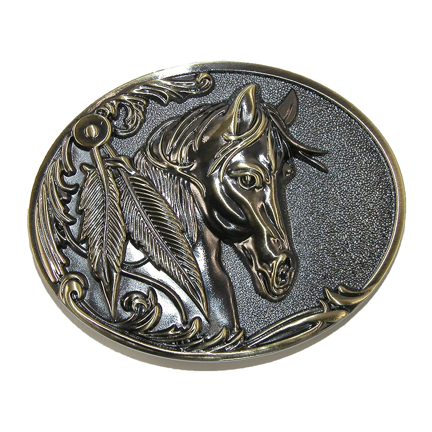 CTM® Women's Horse Belt Buckle, Bronze RR-1648-BNZ