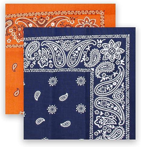 Levis - Bandana multiusos 100% algodón para hombre, conjunto de regalo - diadema, envoltorio, protector - Azul - talla única: Amazon.es: Ropa y accesorios