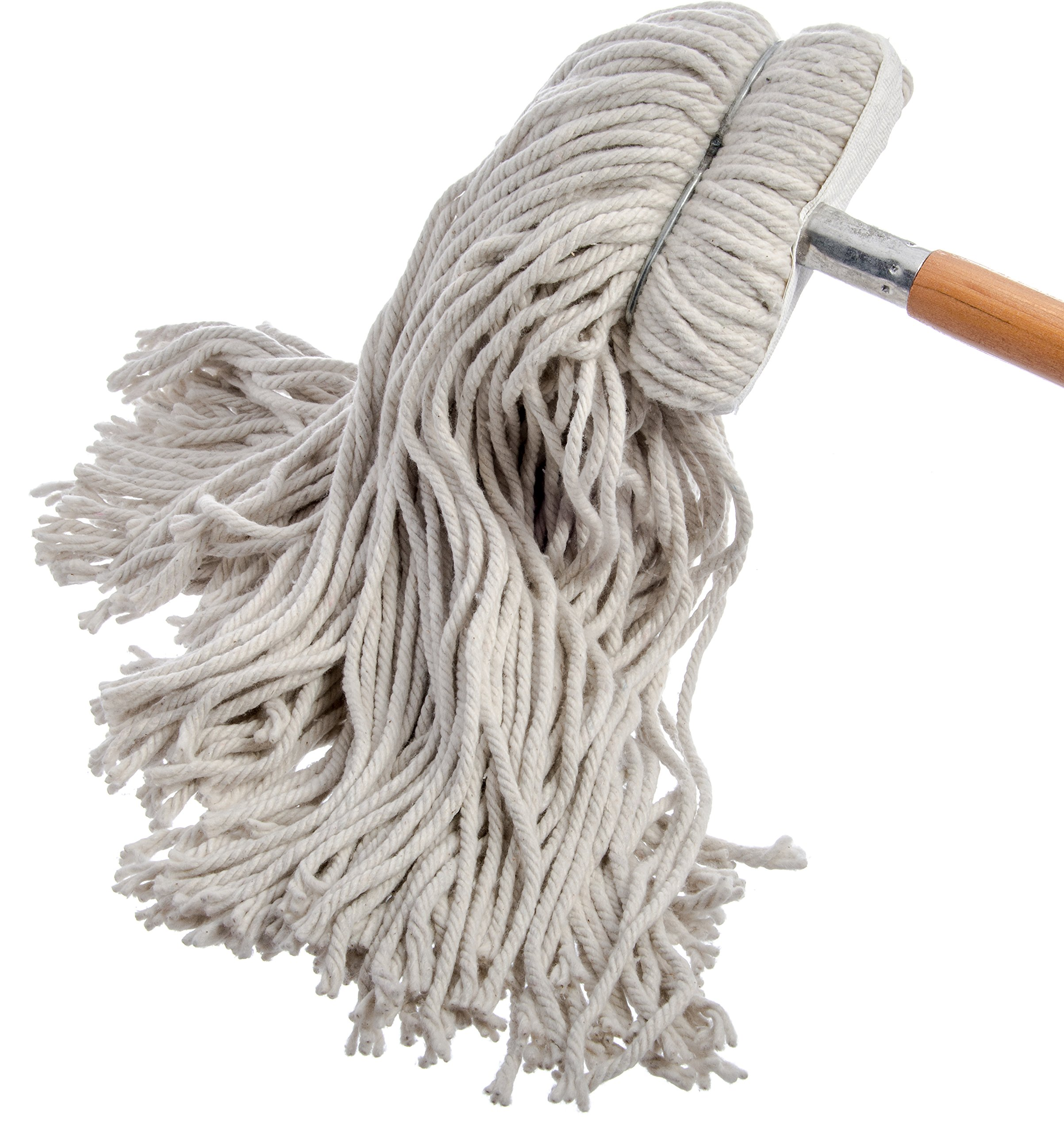 Carlisle 369024C00 Flo-Pac Kwik-On #24 Cotton Screw Top Cut-End Wet Mop, 18'' Length (Pack of 12) by Carlisle (Image #4)