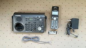 Panasonic KX-TG6702B 2-Line 5.8 GHz FHSS GigaRange Expandable Cordless Phone System with 2 Handsets,Black