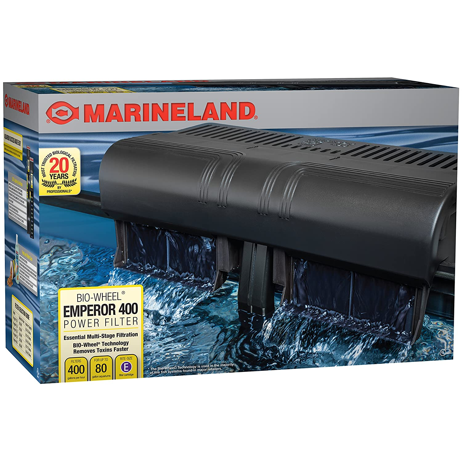 Amazon MarineLand Emperor 400 Pro Series Bio wheel Power