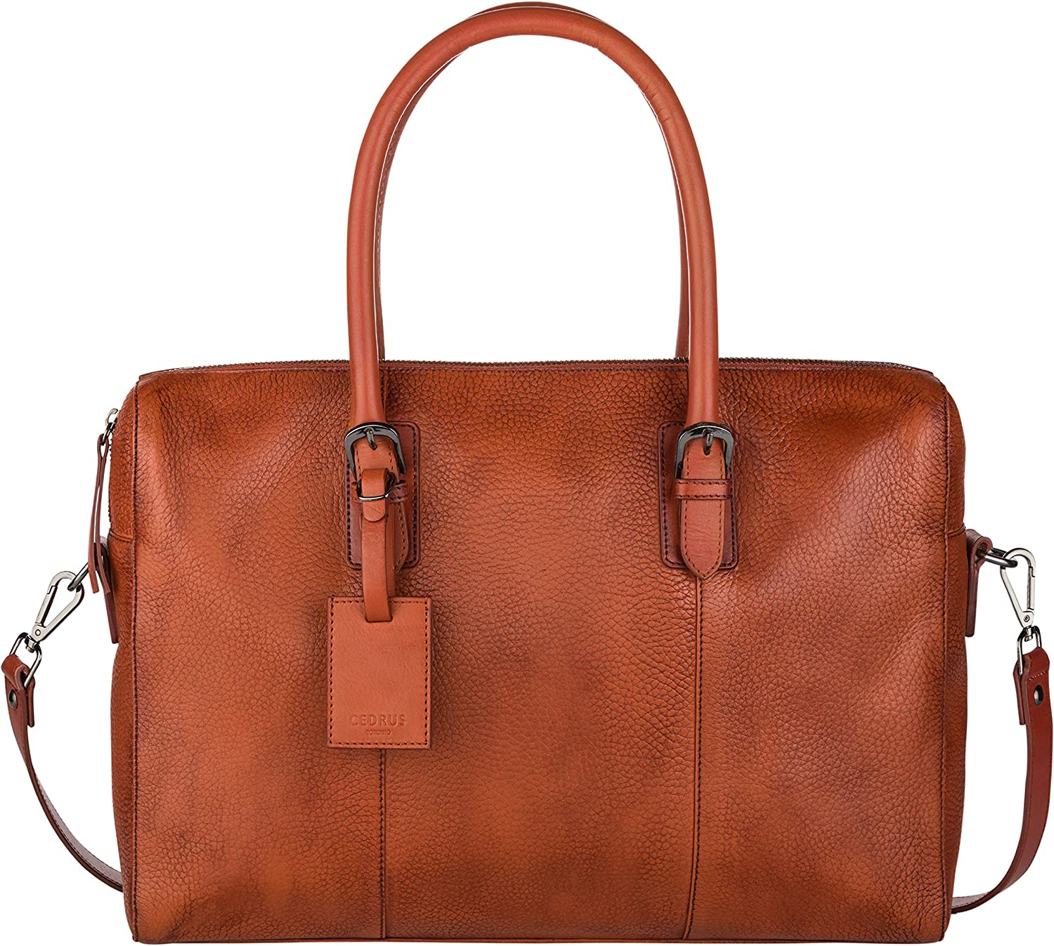Cedrus Meeting Bag Top-Grain Leather Briefcase, Messenger Bag, Laptop Bag, Satchel fits 15