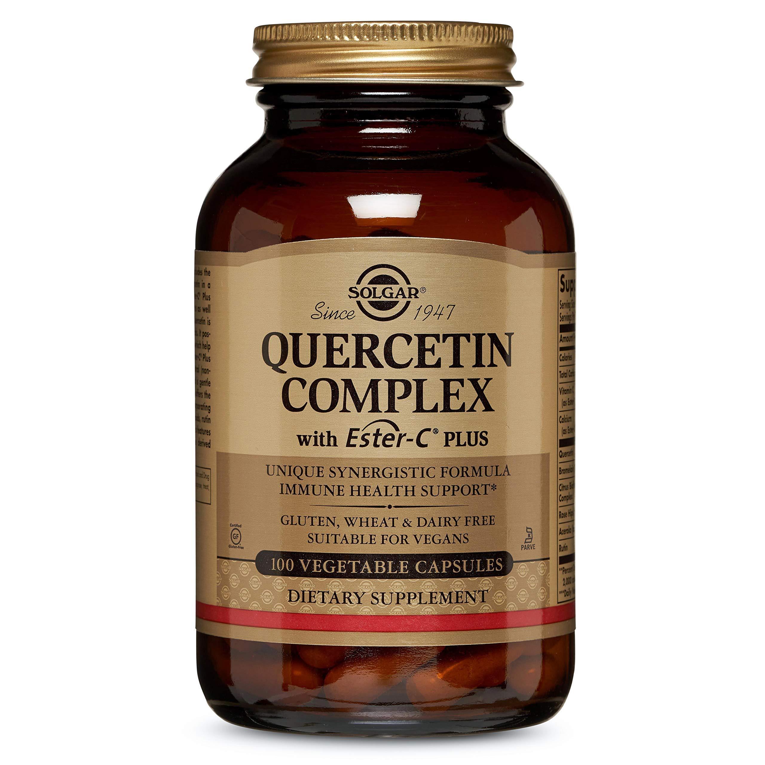 Solgar Quercetin Complex with Ester-C® Plus, Unique Synergistic Formulat Immune Health Support, 100 Vegetable Capsules by Solgar