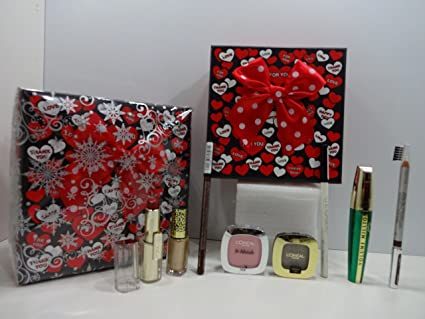 L Oreal Juego de Glamour belleza caja de regalo Set de regalo de papel de