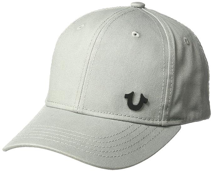99b2d2d90ad True Religion Men s UK Core Logo Baseball Cap Factory Grey One Size   Amazon.co.uk  Clothing