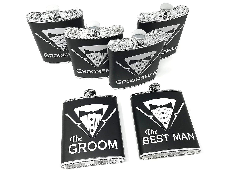 【ネット限定】 Grooms Gifts – セットof 6 Groom セットof、Best Man、Groomsman Man、Groomsman Gifts Bachelor PartyプラスチックタキシードFlasks B079Z1ZM4F, SenseBrand Online Shop:8306befa --- a0267596.xsph.ru