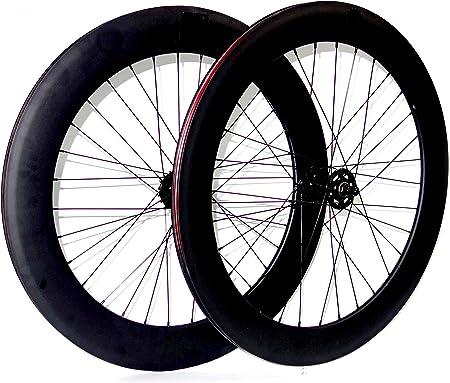 Mowheel Pareja de Ruedas Bicicleta Fixie o Single Speed. Perfil 70mm Color Negro Mate: Amazon.es: Deportes y aire libre
