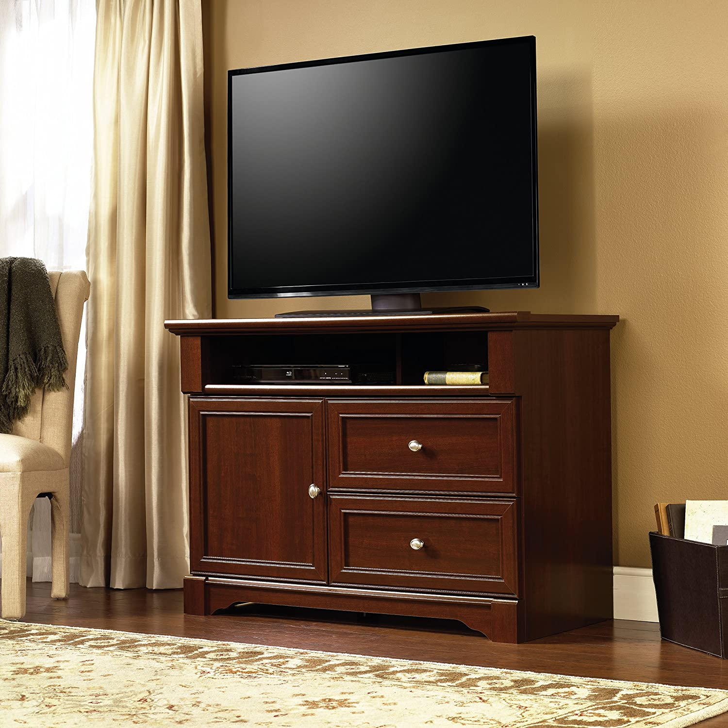 Sauder Palladia High Boy TV Stand, For Tv's up to 50""