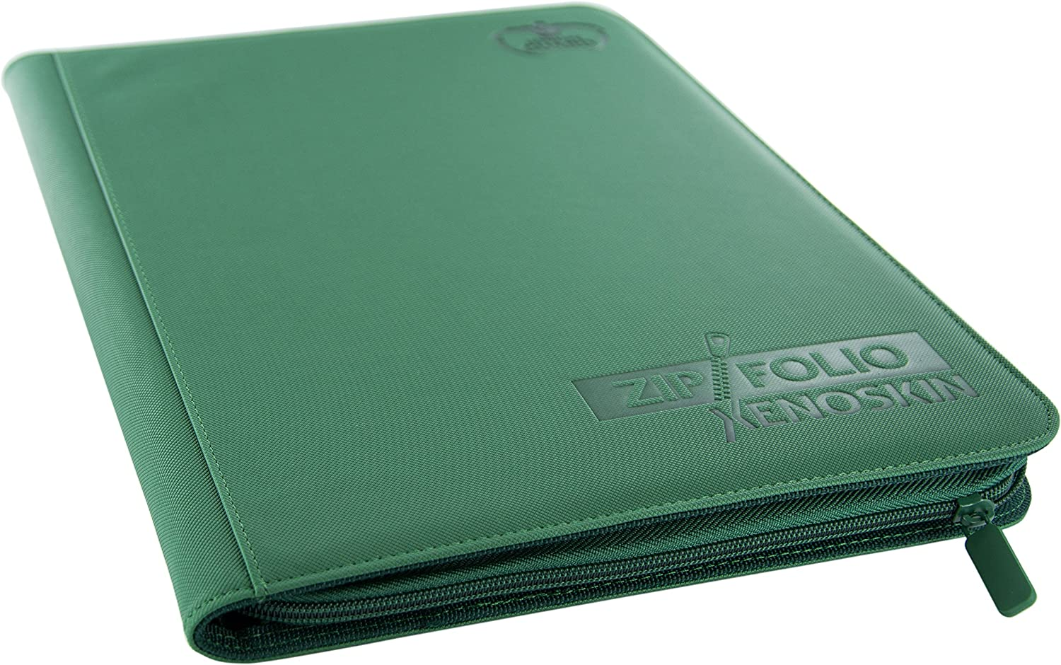 Green Ultimate Guard 9 Pocket XenoSkin Zipfolio