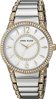 Anne Klein Womens AK/2831MPTT Swarovski Crystal Accented Two-Tone Bracelet Watch