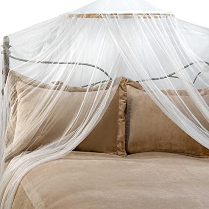 Image Unavailable & Amazon.com: Siam Bed Canopy and Mosquito Net in Ivory: Home u0026 Kitchen
