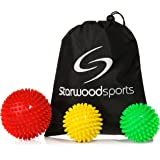Spiky Massage Ball Roller and Lacrosse Balls for Myofascial Release - Trigger Point Therapy – Choose a Set or Single Ball