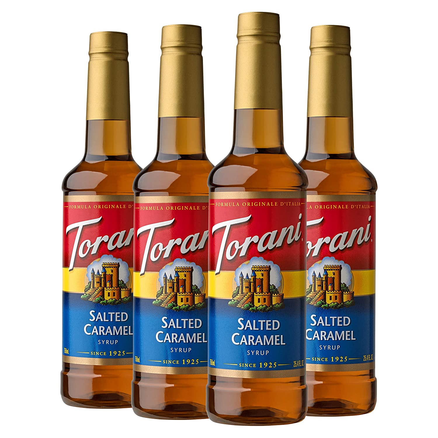 Torani Syrup, Salted Caramel, 25.4 Ounces (Pack of 4)