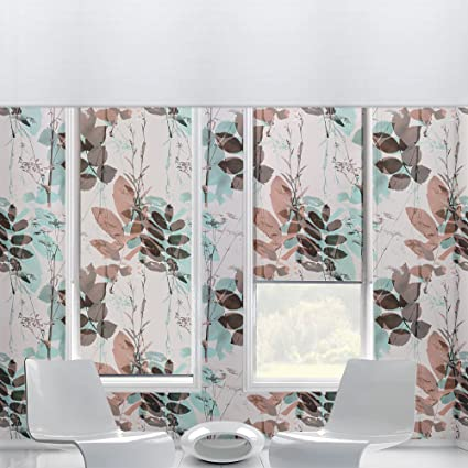 Blurred Brown And Green Floral Self Adhesive Wallpaper