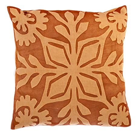 Amazon.com: 16x16 Rust Orange Applique Organic Cotton Pillow Cover on crochet pillow ideas, fall pillow ideas, wuilted pillow ideas, sewing pillow ideas, needle felted pillow ideas, chenille pillow ideas, patchwork pillow ideas, diy pillow ideas, trapunto pillow ideas, easter pillow ideas, christmas pillow ideas, button pillow ideas, handmade pillow ideas,