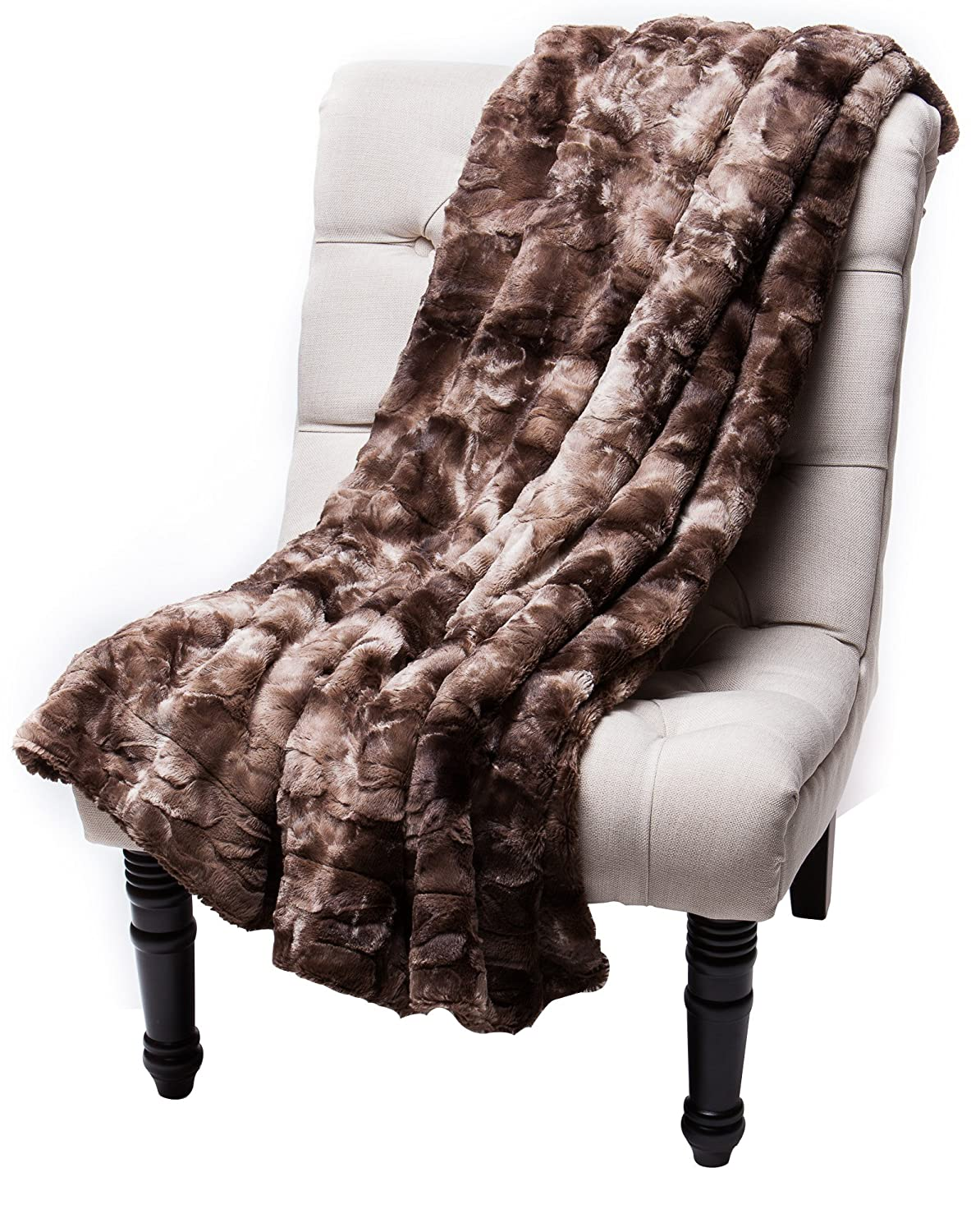 Chanasya Super Soft Fuzzy Fur Faux Fur Cozy Warm Fluffy Blanket