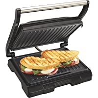 Proctor Silex Panini Sandwich Press, Black (25440)
