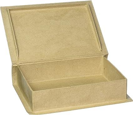 2824-74FCAM 2-Pack Darice DIY Crafts Paper Mache Book Box 7-3//4 x 5-1//2 x 1-3//4 in Bulk Buy