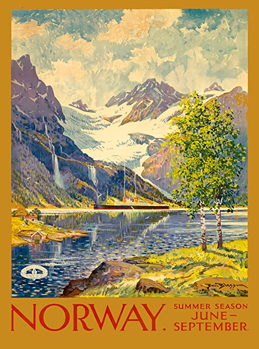 Norway Norwegian Scandinavia Vintage Travel Advertisement Art Poster  Print 5
