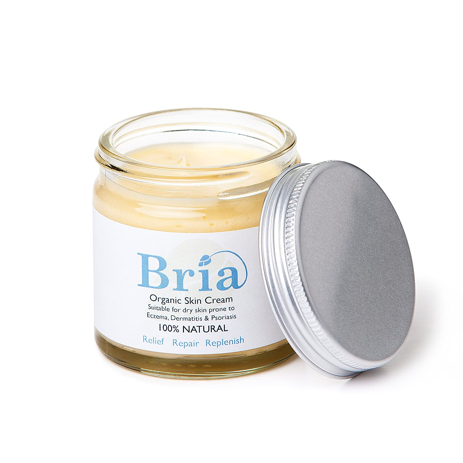 Bria 100% Natural Organic Soothing Skin Cream for Eczema Prone & Dry Skin suitable for Adults, Children & Babies - Scent Free (60ml) Bria Organics Ltd bria-005