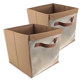 Amazon.com: EasyView cubo de almacenamiento con asas, cesta ...