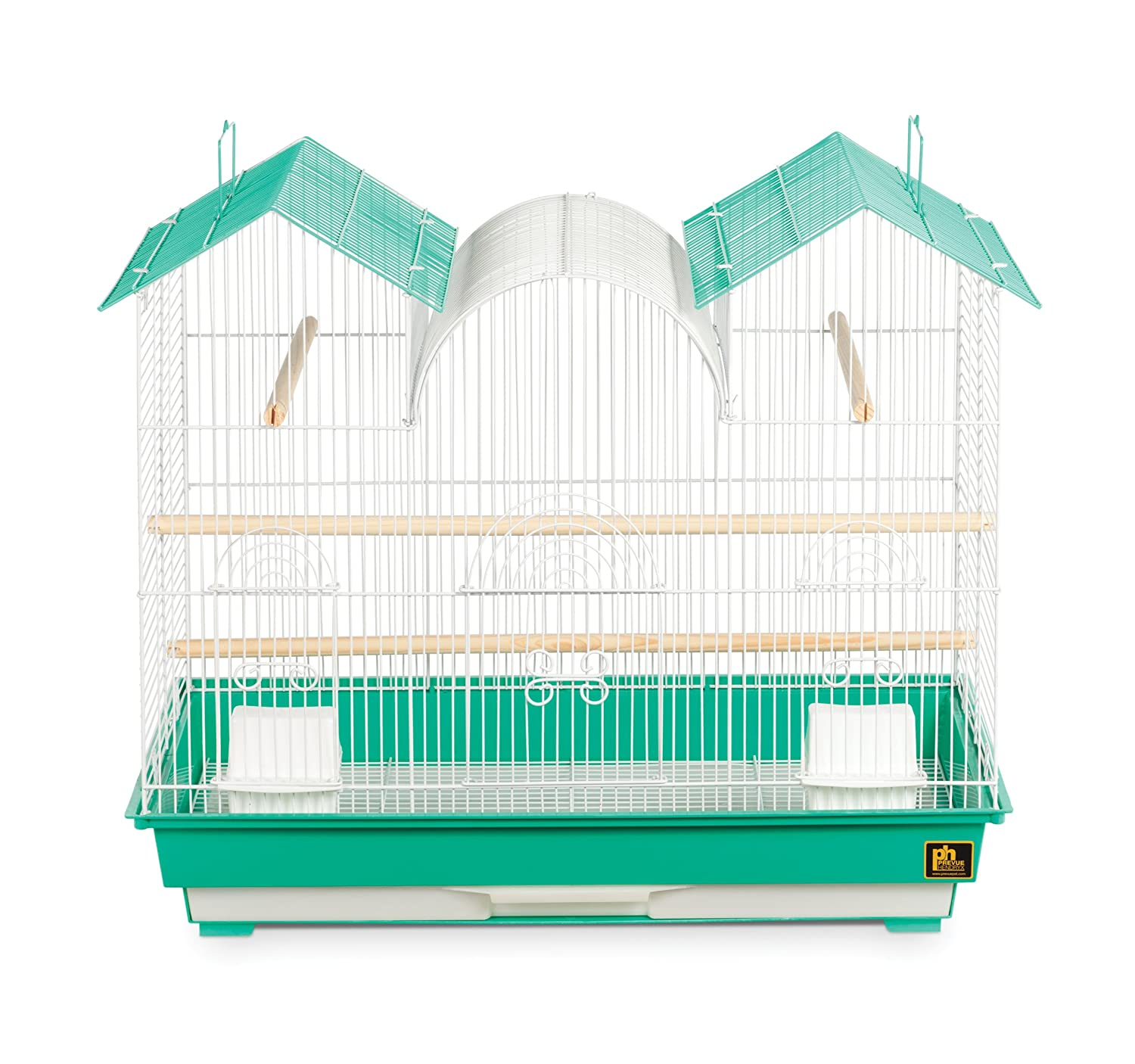 Prevue Hendryx Triple Roof Bird Cage Teal and White Prevue Pet Products Inc. SP1804TR-2