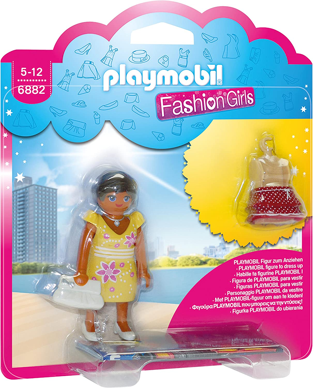 Playmobil Tienda de Moda- Summer Fashion Girl Muñecas, Multicolor, 15 x 4 x 16,8 cm (Playmobil 6882)