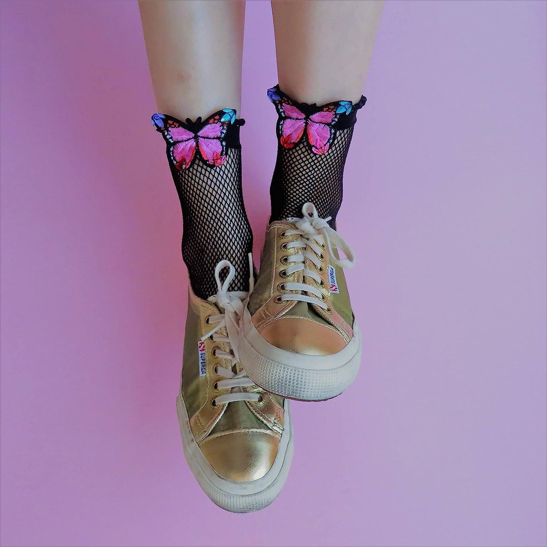 3f3725087f115 Amazon.com: tulle socks embellished fishnet mesh socks ankle lace socks  sexy crystallized tights glitter socks decorated fishnets bling statement  socks: ...