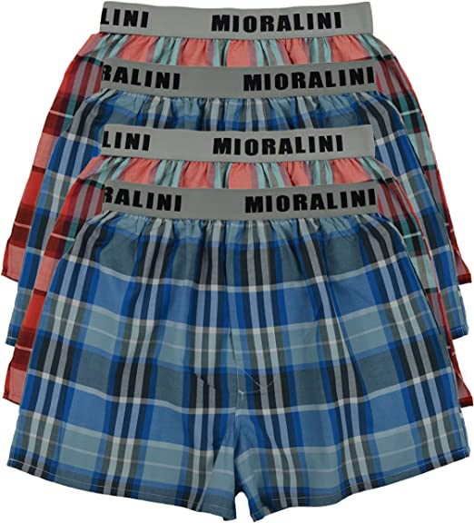 MioRalini 6 o 4 Calzoncillos de algodón Estilo Estadounidense para Hombres con y sin intervención Tallas S - 4XL