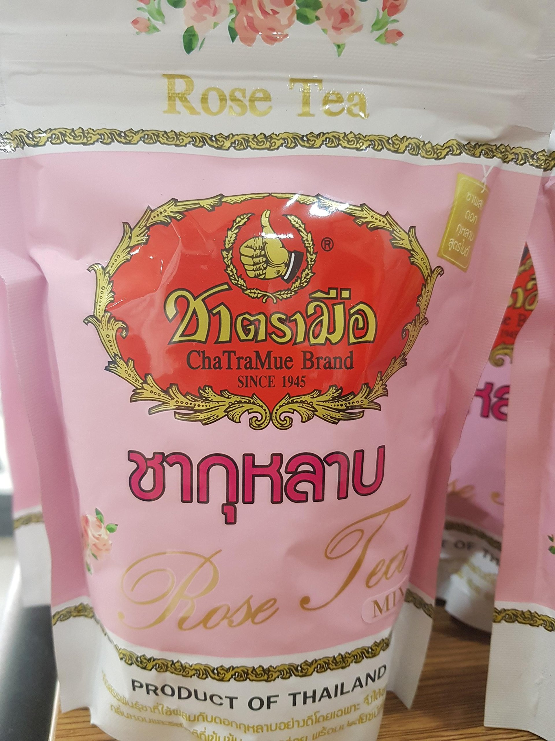 cha tra mue rose tea 150 gram thai tea by Chatramue