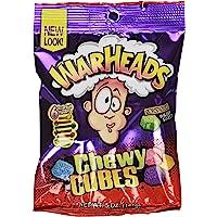 Warheads Sour Chewy Cubes Big Bag 5-Ounce (x12 Units), 1.70-Kilogram