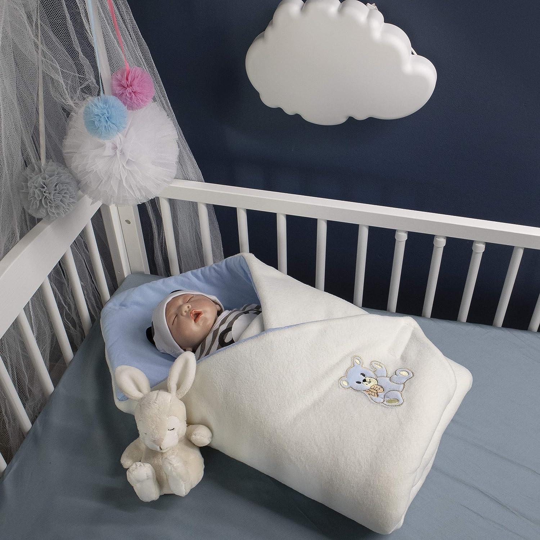 Sac de couchage pour nouveau-n/é 78 x 78 cm Rose Pratique dans la voiture BlueberryShop Couverture demmaillotage polaire Cadeau parfait pour Baby Shower