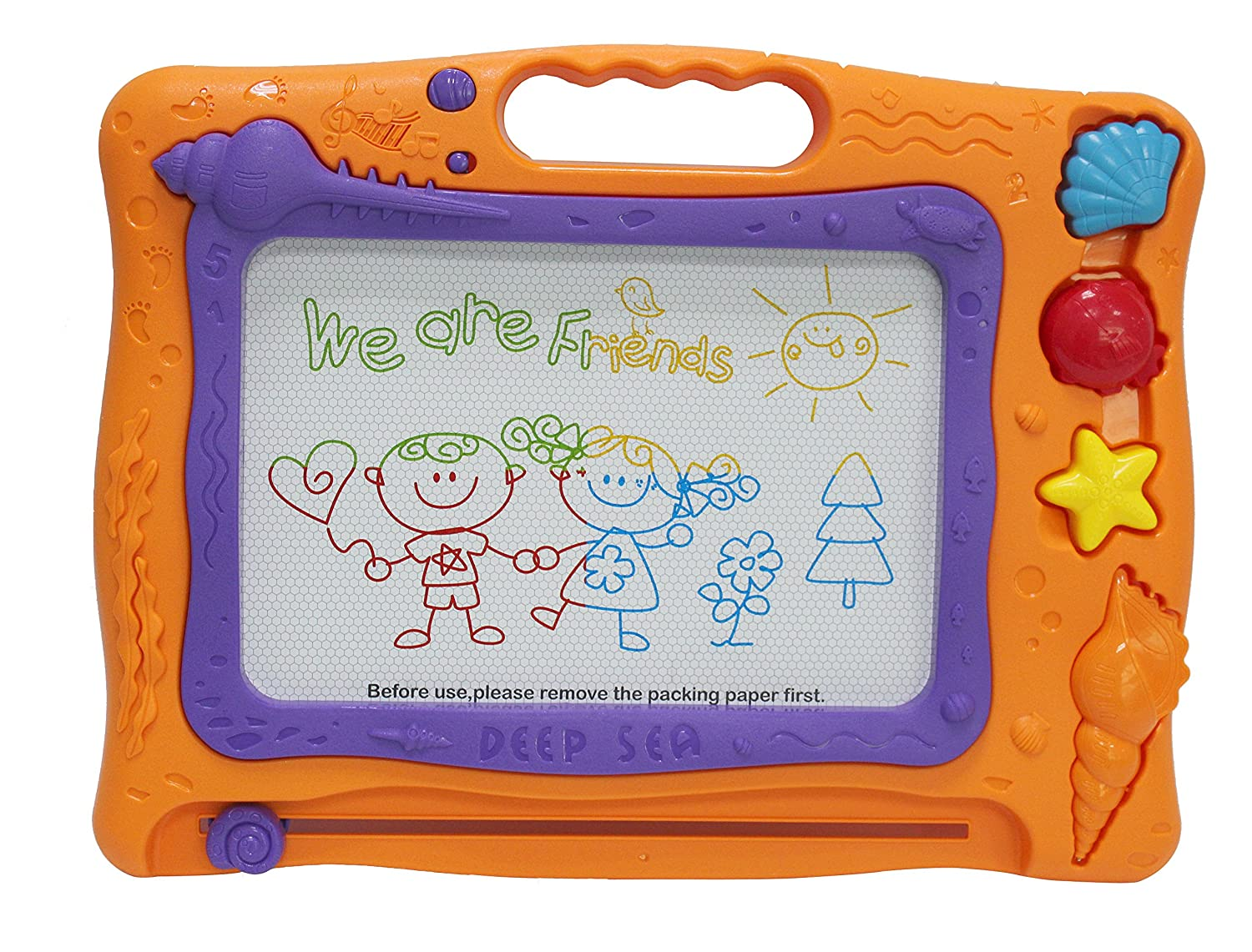 ACOPLAY Large Magnetic Doodle Sketch Board by Colorful Erasable Drawing Board - Perfect for Toddlers & Kids – Develops Drawing, Writing, and Playing Skills Etch a Sketch Montessori toys toddler toys