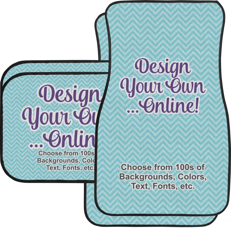 Design Your Own Car Floor Mats Set - 2 Front & 2 Back