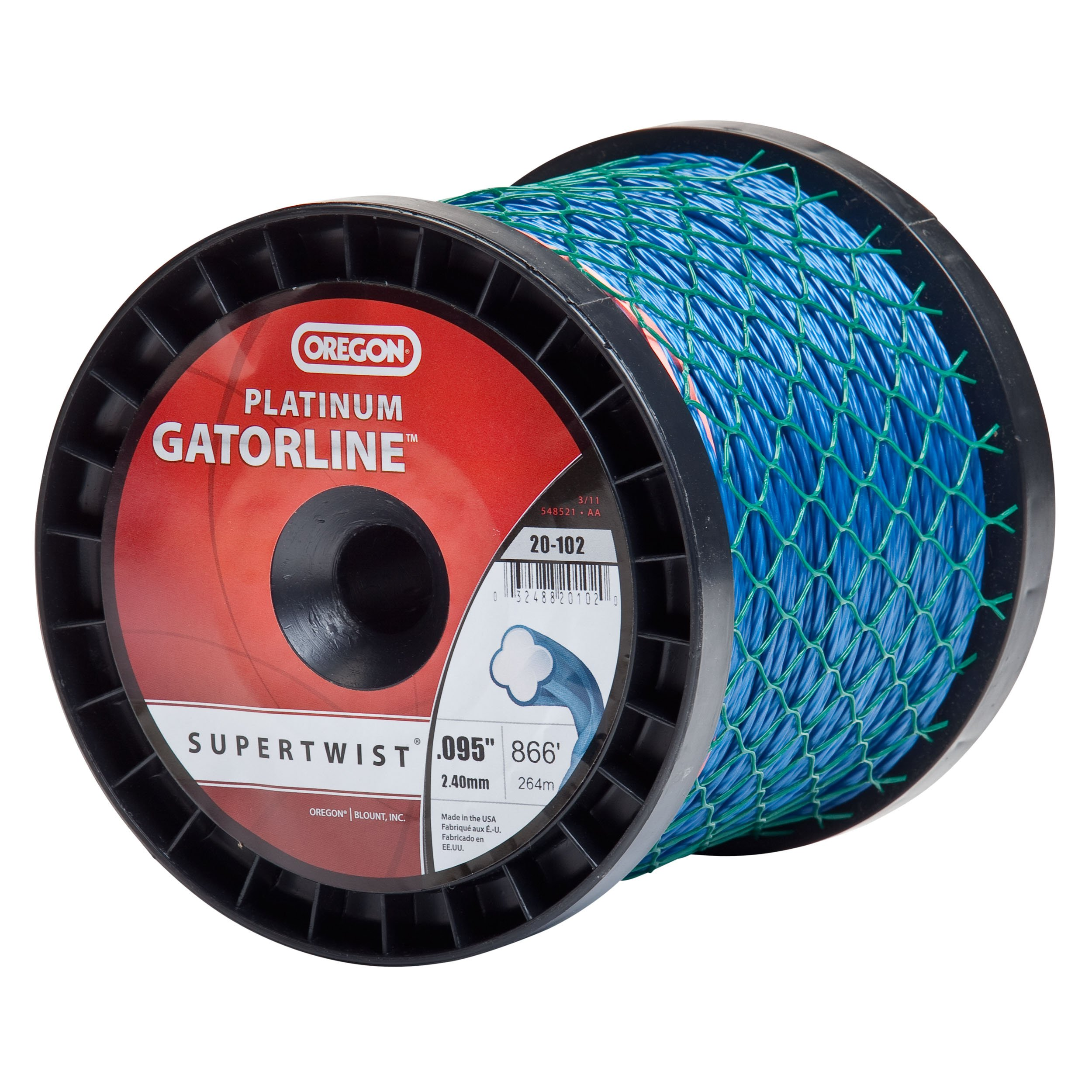 Oregon 20-102 Platinum Gatorline 3-Pound Spool String Trimmer Line 0.095-Inch Gauge by Oregon