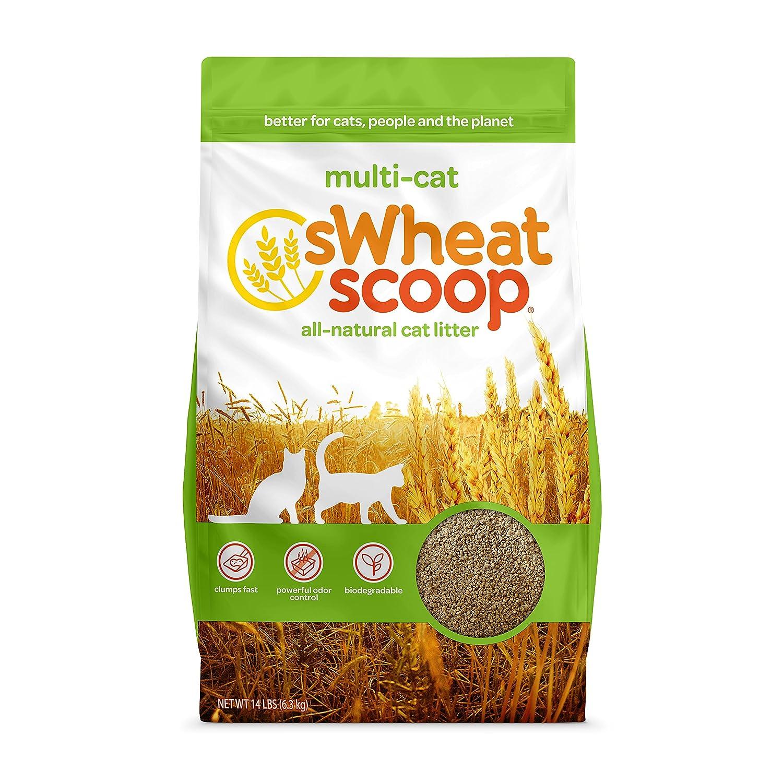 14 lb sWheat Scoop Multi-Cat All-Natural Clumping Cat Litter, 14lb Bag