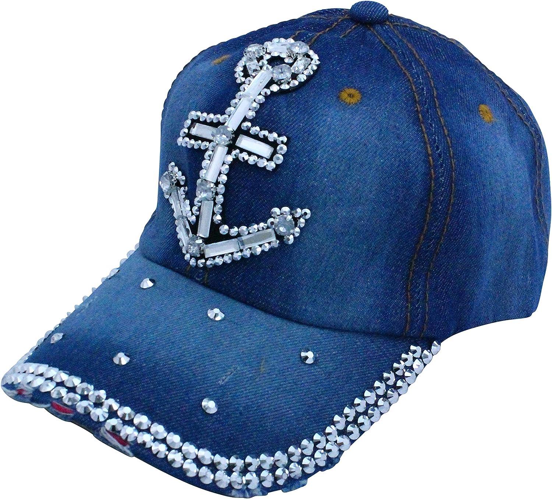 Black Sailor Anchor 1 Mesh Baseball Caps Girl Adjustable Trucker Hat