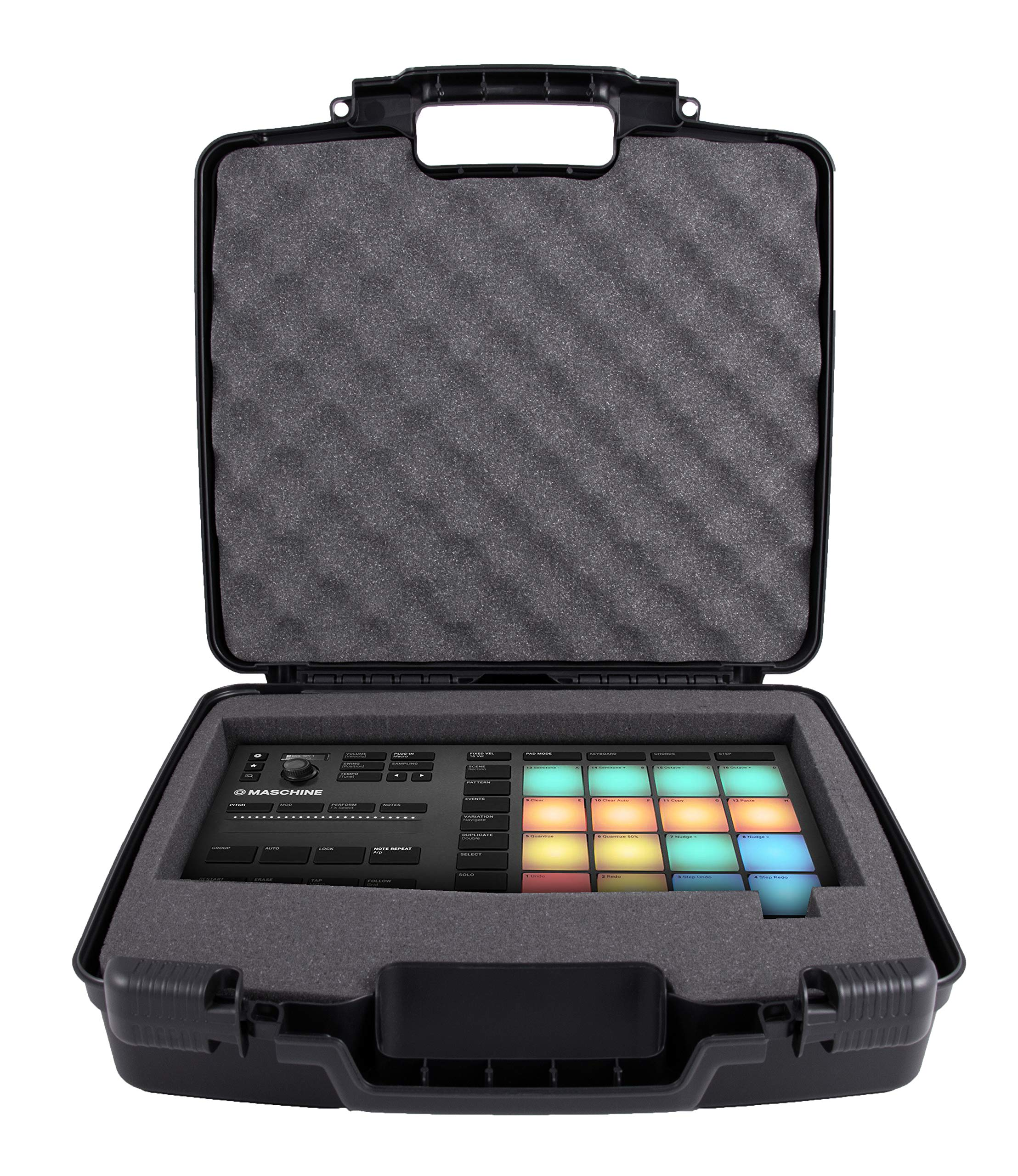 CASEMATIX Protective Hard Travel Case Fits Native Instruments Maschine Mikro Mk3 Drum Controller - Impact Protection, Dense Padded Foam by CASEMATIX (Image #1)