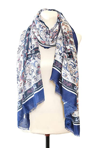 95cefe2ba61b9 WHATSHOP Scarfs for Women Lightweight - Long Fashion Scarves - Shawls and  Wraps - Floral Art