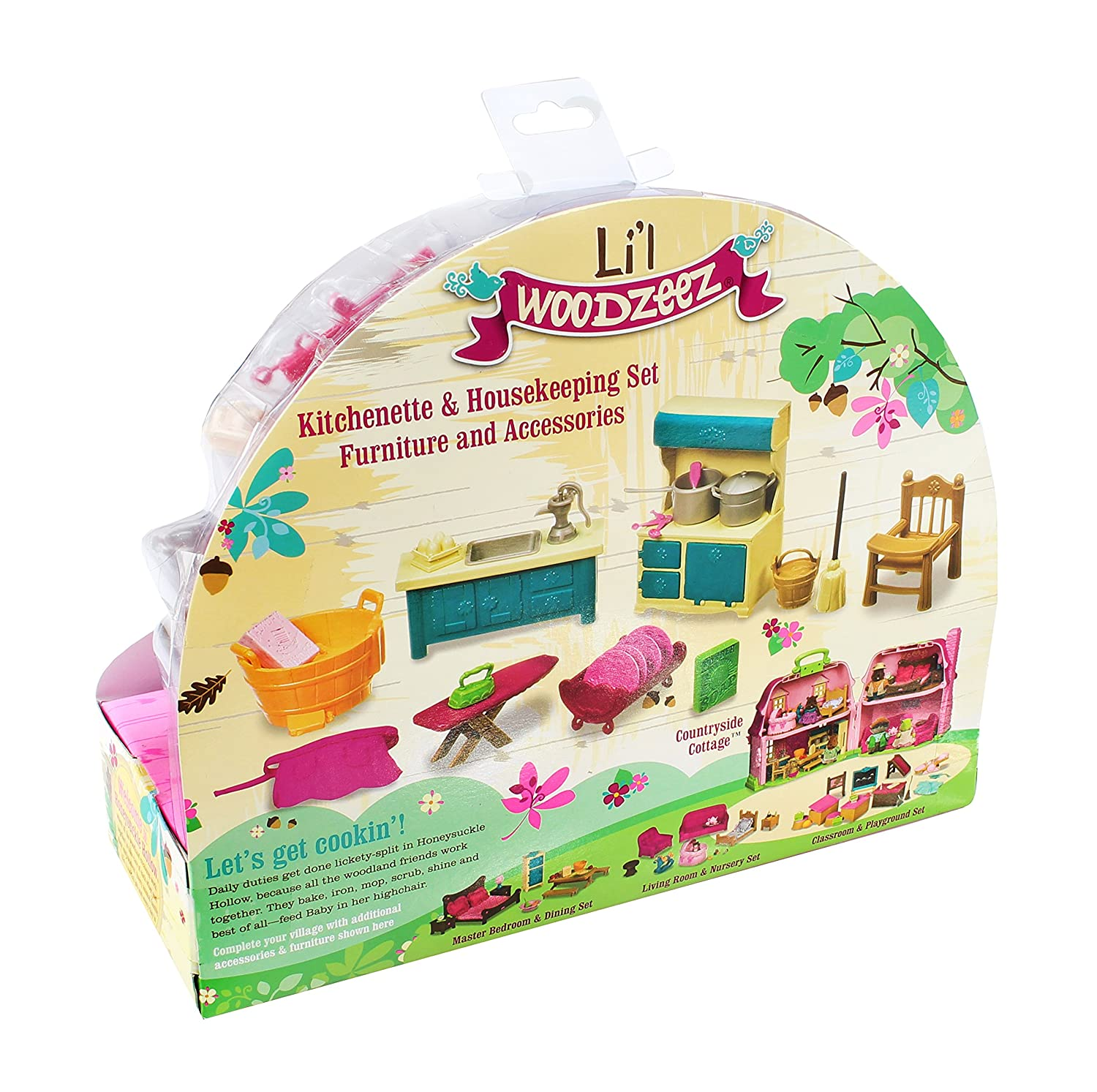 Amazon Lil WOODZEEZ Kitchenette Housekeeping Set Toys Games