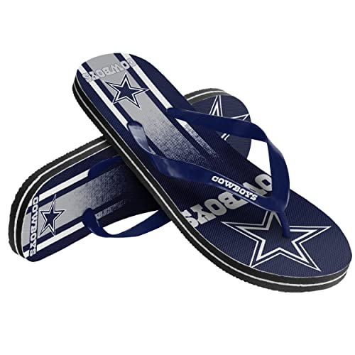 50f33ee21440b Image Unavailable. Image not available for. Color  Forever Collectibles Dallas  Cowboys Men s Big Logo Unisex Beach Flip Flop Sandals ...