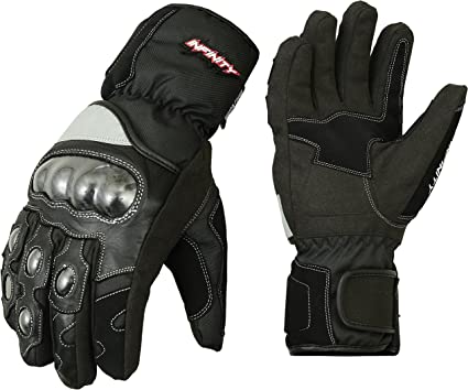 Full Padded Protection Leather Motorbike Gloves Waterproof Thermal