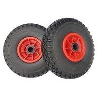 2 x Frosal PU Rad Sackkarre 260 mm 3.00-4 | Sackkarrenrad Vollgummi | Ersatzrad Bollerwagen pannensicher | Reifen